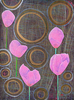 Pink Tulips by Adel Nemeth