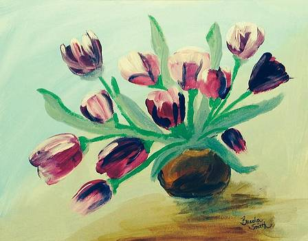 Pink Tulips by Brenda L Smith