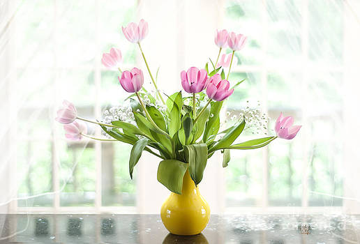 Lois Bryan - Pink Tulips In The Window