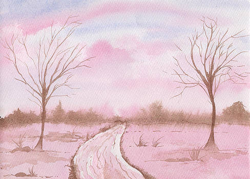 Pinkish landscape by Aline Reolon