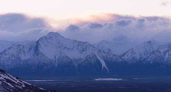 Pioneer Peak at Dawn by Emily Henriques