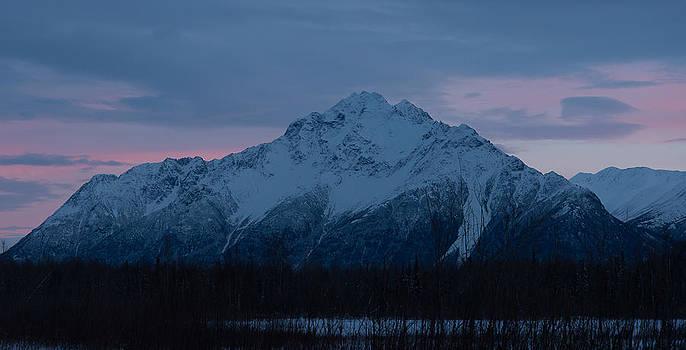 Pioneer Peak at Dusk by Emily Henriques