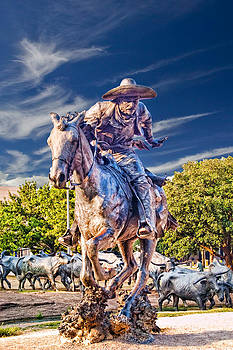 Pioneer Plaza Cattle Drive by Douglas Burrell