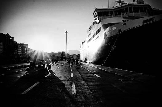 Piraeus Port by Spyros Papaspyropoulos