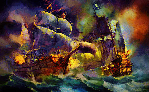 Pirate Battle by Christopher Lane