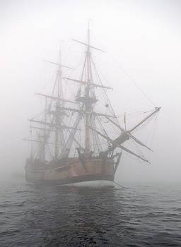 Cliff Wassmann - Pirate ship in the fog