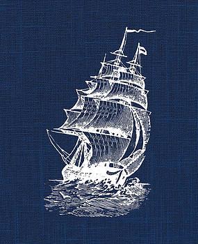 Pirate Ship Nautical Print by Jaime Friedman