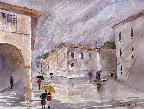 Kathleen  Gwinnett - Pisa In The Rain