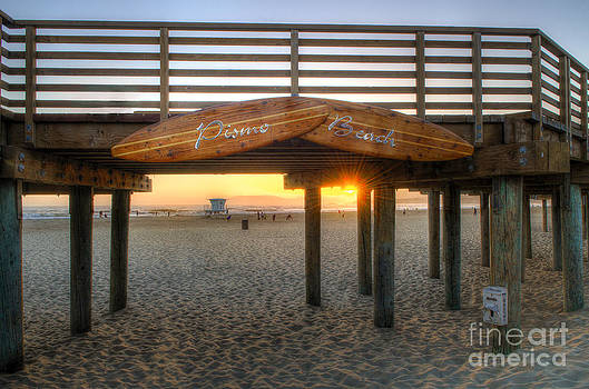 Pismo Beach Boardwalk Sunset by Mathias