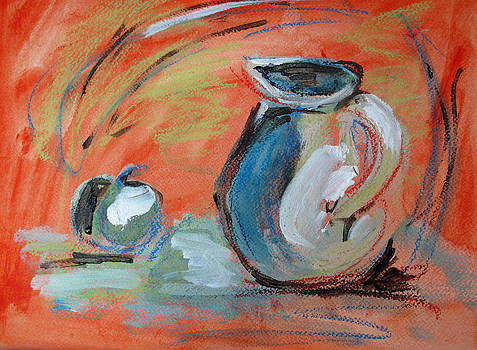 Pitcher and Apple by Sharon Sieben