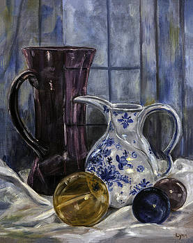 Lynn Palmer - Pitchers and Glass Spheres Still Life