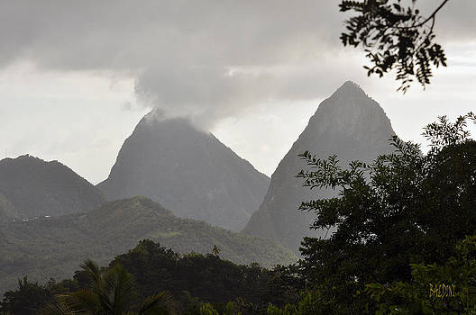 PITONS St Lucia by J R Baldini Master Photographer