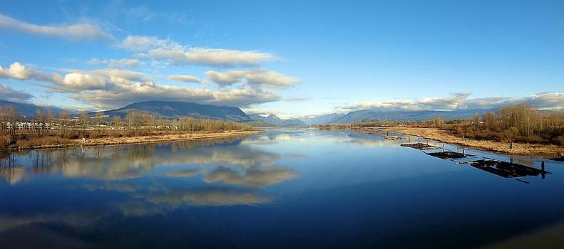 Pitt River Bridge View - Maple Ridge, British Columbia Reflections by Ian Mcadie