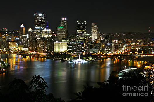 Pittsburgh Autumn Night 2 by Jay Nodianos