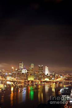 Pittsburgh Pennsylvania Night Portrait by Sharon Dominick