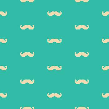 Pixel Mustache Pattern by Mike Taylor