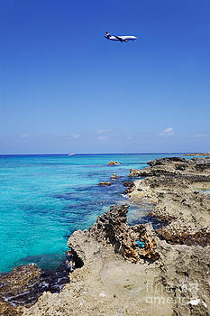 Jo Ann Snover - Plane approaching Grand Cayman