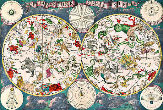 Science Source - Planisphere Coeleste Star Map 1680