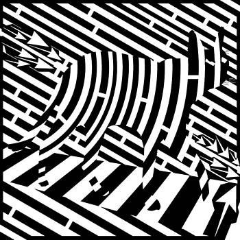 Plank Walking Cat Maze by Yonatan Frimer Maze Artist