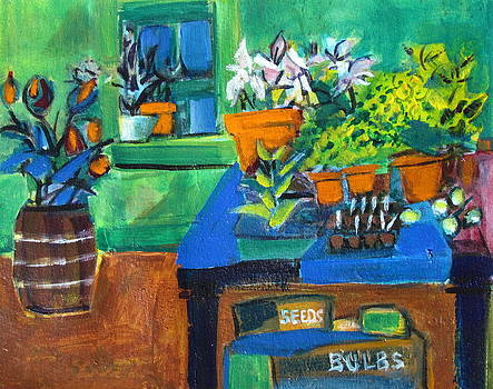 Betty Pieper - Plants in Potting Shed