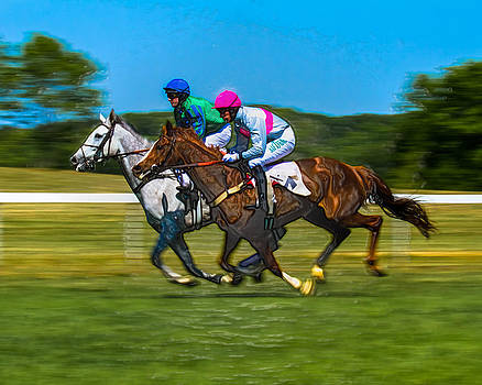 Plastic Wrapped Steeplechase by Robert L Jackson