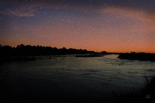 Platte River - Starry Night by Andrea Kelley