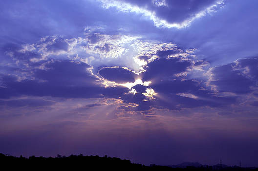 Bliss Of Art - Play of clouds and the sun