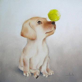 Playful Puppy Nursery Art by Junko Van Norman