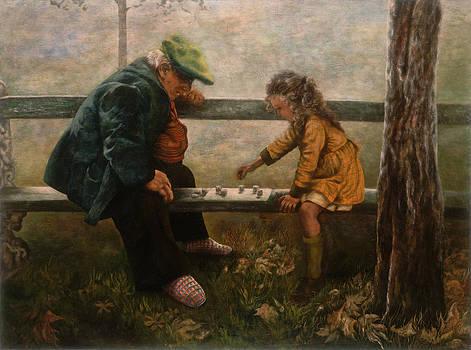 Playing Checkers by Glenda Stevens