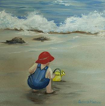 Playing in the sand by Stella Marin