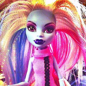 Playing With A Monster High Doll While by Deirdre Ryan