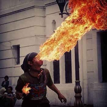 Playing With Fire #kotatua #jakarta by Dani Daniar