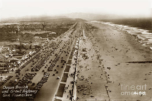 California Views Mr Pat Hathaway Archives - Playland-at-the-Beach with the Big Dipper Roaster view from Sutro Heights Park circa 1940