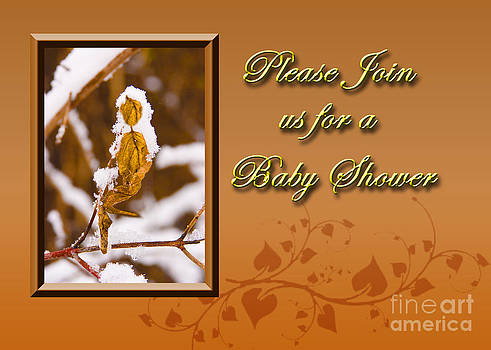 Jeanette K - Please Join us for a Baby Shower Leaf