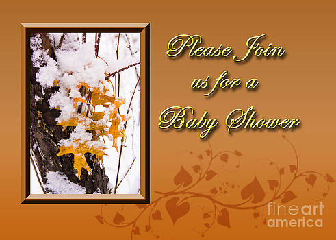 Jeanette K - Please Join us for a Baby Shower Leaves