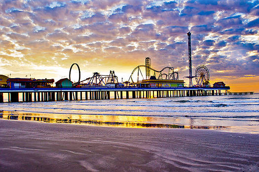 Pleasure Pier at Dawn  by John Collins