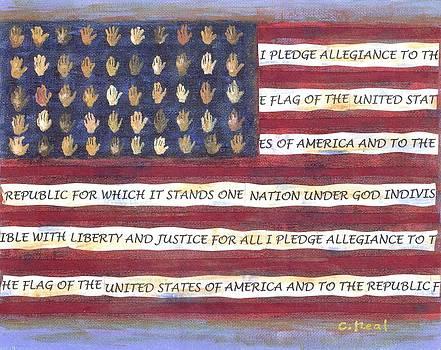 Pledge Flag by Carol Neal