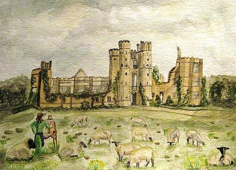 Angela Davies - Plein Air Painting At Cowdray House Sussex