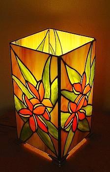 Plumeria Garden lamp by DK Nagano