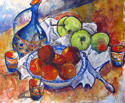 Plums apples by Vladimir Kezerashvili