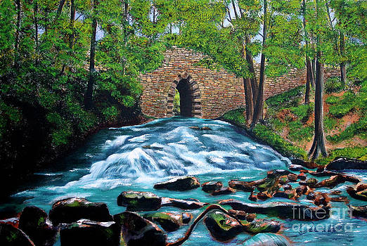 Poinsett Bridge I, Historic Landmark in Upstate of South Carolina by AWellsArtworks Fine Art