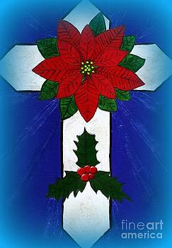 Vicki Maheu - Poinsettia Cross