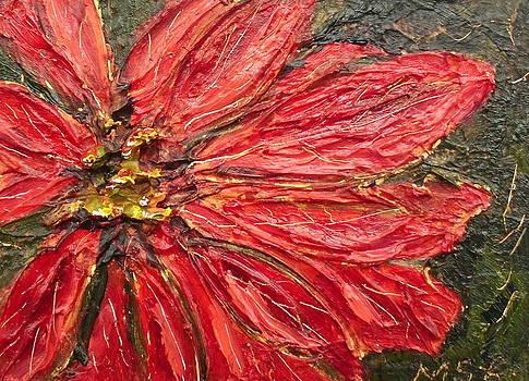 Poinsettia Sgraffito  by Maria Soto Robbins