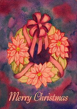 Ruth Soller - Poinsettia Wreath card