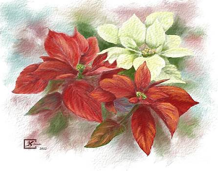 Poinsettias for the Winter Holidays by Judy Filarecki