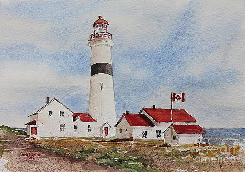 Point Amour Labrador Lighthouse by Monte Toon