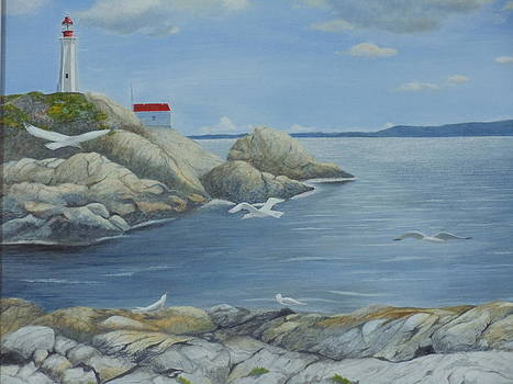 Point Atkinson lighthouse by James Lawler