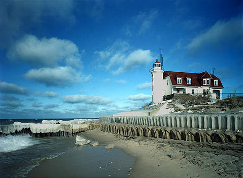 Point Betsie Winter of '89 by James Rasmusson