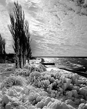 Point Betsie Winter of '92 by James Rasmusson