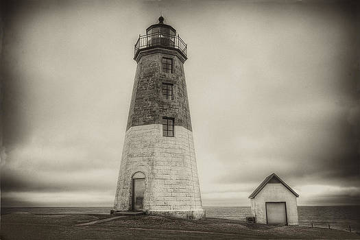 Point Judith Lighthouse Antique by Seaside Artistry